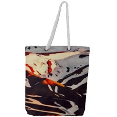 Iceland Landscape Mountains Snow Full Print Rope Handle Tote (large)