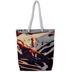 Iceland Landscape Mountains Snow Full Print Rope Handle Tote (small)