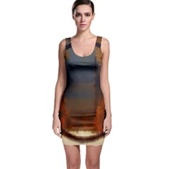 River Water Reflections Autumn Bodycon Dress