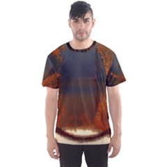 River Water Reflections Autumn Men s Sports Mesh Tee