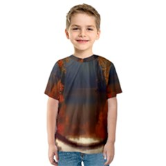 River Water Reflections Autumn Kids  Sport Mesh Tee