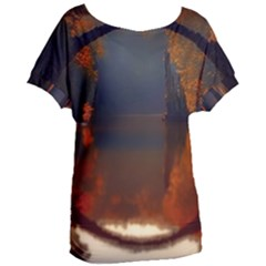 River Water Reflections Autumn Women s Oversized Tee