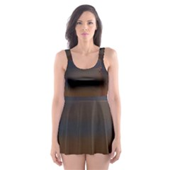River Water Reflections Autumn Skater Dress Swimsuit
