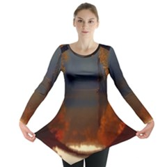 River Water Reflections Autumn Long Sleeve Tunic
