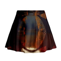 River Water Reflections Autumn Mini Flare Skirt
