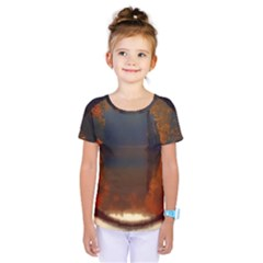 River Water Reflections Autumn Kids  One Piece Tee