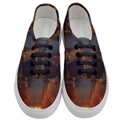 River Water Reflections Autumn Women s Classic Low Top Sneakers