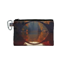 River Water Reflections Autumn Canvas Cosmetic Bag (small)