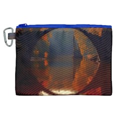 River Water Reflections Autumn Canvas Cosmetic Bag (xl)