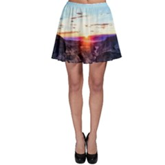 Iceland Landscape Mountains Stream Skater Skirt