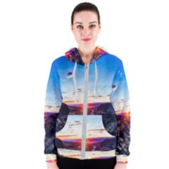 Iceland Landscape Mountains Stream Women s Zipper Hoodie