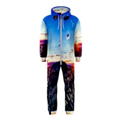 Iceland Landscape Mountains Stream Hooded Jumpsuit (kids)