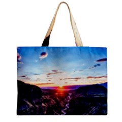 Iceland Landscape Mountains Stream Zipper Medium Tote Bag
