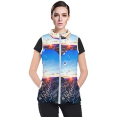 Iceland Landscape Mountains Stream Women s Puffer Vest