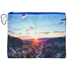 Iceland Landscape Mountains Stream Canvas Cosmetic Bag (xxl)