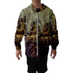 Singapore City Urban Skyline Hooded Wind Breaker (kids)