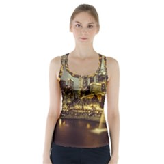 Singapore City Urban Skyline Racer Back Sports Top