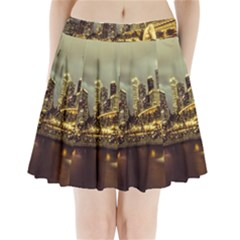 Singapore City Urban Skyline Pleated Mini Skirt