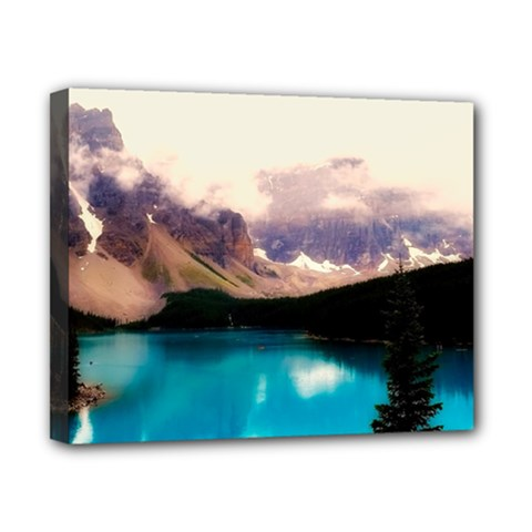 Austria Mountains Lake Water Canvas 10  X 8