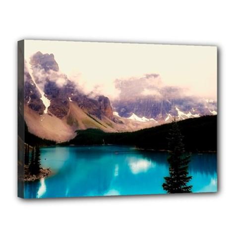 Austria Mountains Lake Water Canvas 16  X 12