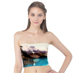 Austria Mountains Lake Water Tube Top