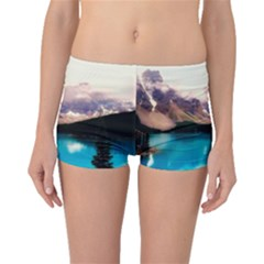 Austria Mountains Lake Water Boyleg Bikini Bottoms