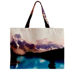 Austria Mountains Lake Water Zipper Medium Tote Bag