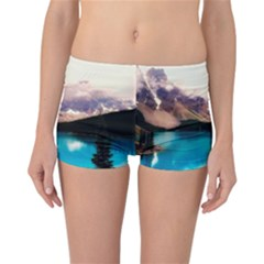 Austria Mountains Lake Water Reversible Boyleg Bikini Bottoms