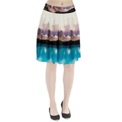 Austria Mountains Lake Water Pleated Skirt
