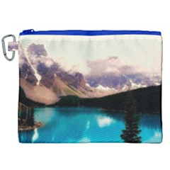 Austria Mountains Lake Water Canvas Cosmetic Bag (xxl)