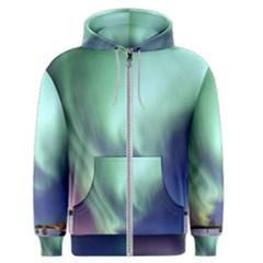 Aurora Borealis Alaska Space Men s Zipper Hoodie