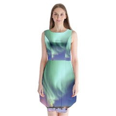 Aurora Borealis Alaska Space Sleeveless Chiffon Dress