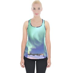 Aurora Borealis Alaska Space Piece Up Tank Top