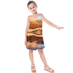 France Snow Winter Sunrise Fog Kids  Sleeveless Dress