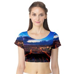 The Hague Netherlands City Urban Short Sleeve Crop Top