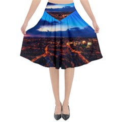 The Hague Netherlands City Urban Flared Midi Skirt