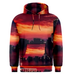 New York City Urban Skyline Harbor Men s Pullover Hoodie