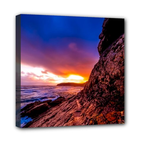 South Africa Sea Ocean Hdr Sky Mini Canvas 8  X 8