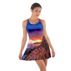 South Africa Sea Ocean Hdr Sky Cotton Racerback Dress