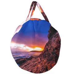 South Africa Sea Ocean Hdr Sky Giant Round Zipper Tote