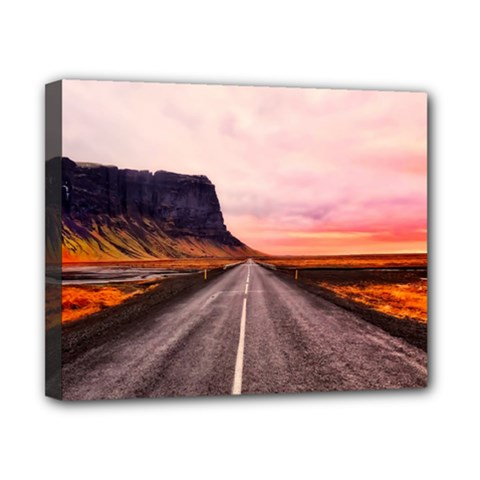 Iceland Sky Clouds Sunset Canvas 10  X 8