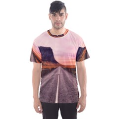 Iceland Sky Clouds Sunset Men s Sports Mesh Tee