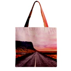 Iceland Sky Clouds Sunset Zipper Grocery Tote Bag