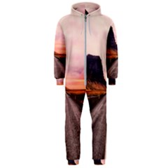 Iceland Sky Clouds Sunset Hooded Jumpsuit (men)