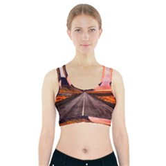 Iceland Sky Clouds Sunset Sports Bra With Pocket
