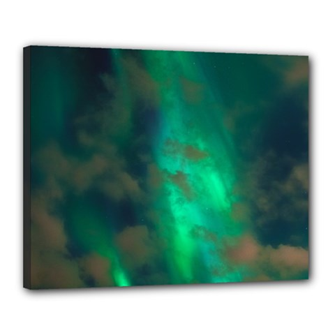 Northern Lights Plasma Sky Canvas 20  X 16