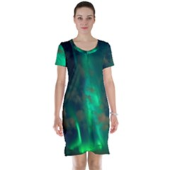 Northern Lights Plasma Sky Short Sleeve Nightdress