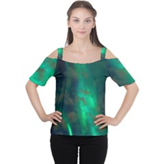 Northern Lights Plasma Sky Cutout Shoulder Tee