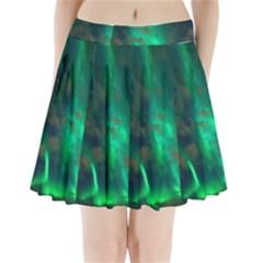 Northern Lights Plasma Sky Pleated Mini Skirt