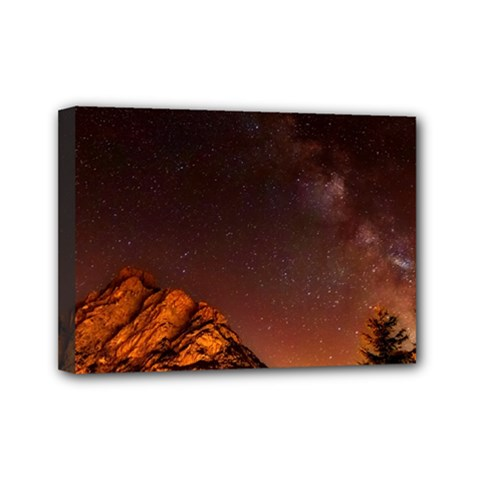 Italy Night Evening Stars Mini Canvas 7  X 5